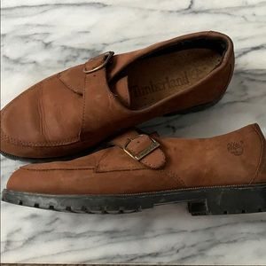Timberland buckled leather loafers